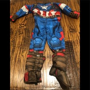 Captain America Costume Sz. 3-4T